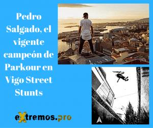 Pedro Salgado campeón de Parkour en Vigo Street Stunts