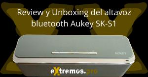 Aukey Sk S1. Altavoz bluetooth bueno bonito y barato