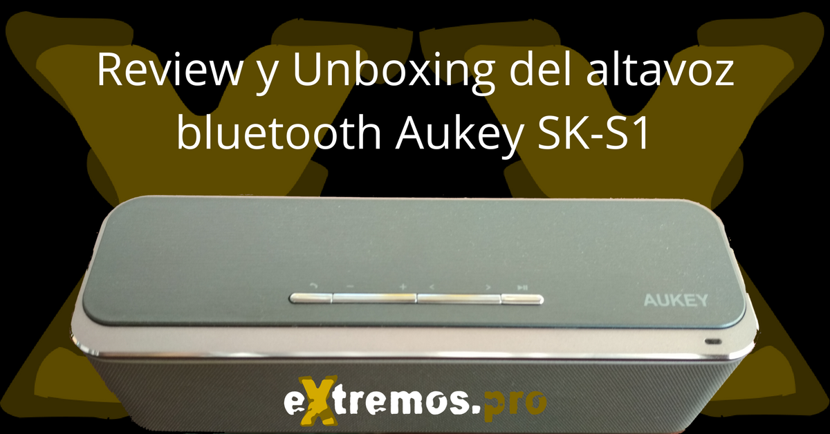 aukey sk s1 altavoz bluetooth review español