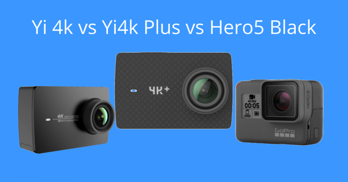 comparativa de la yi 4k+ vs yi 4k vs hero5 black