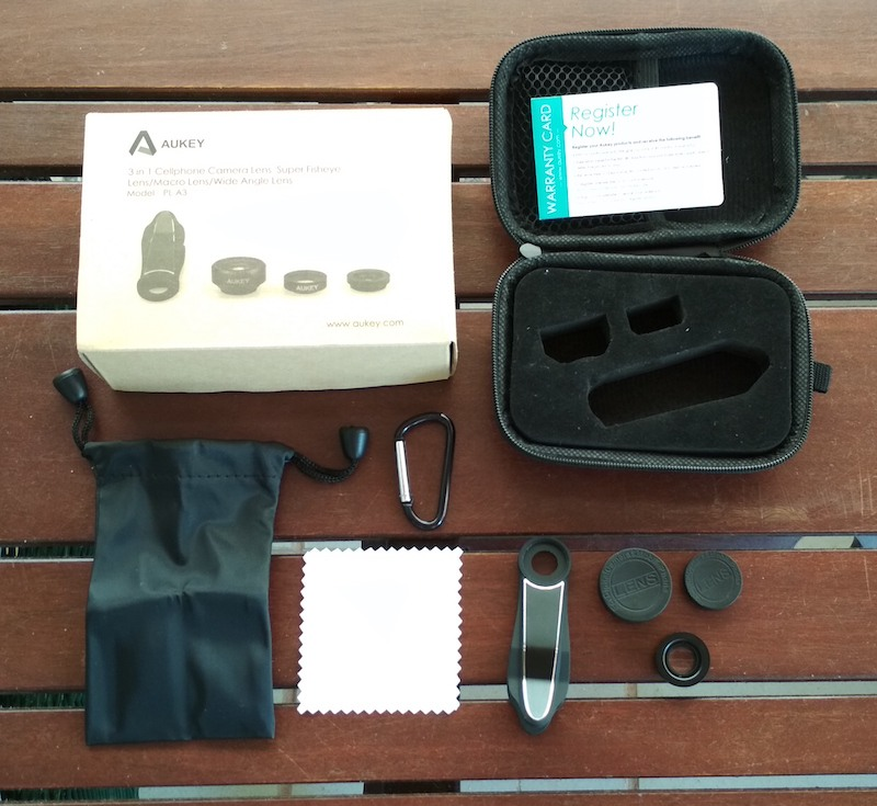 unboxing kit de lentes aukey 3 en 1